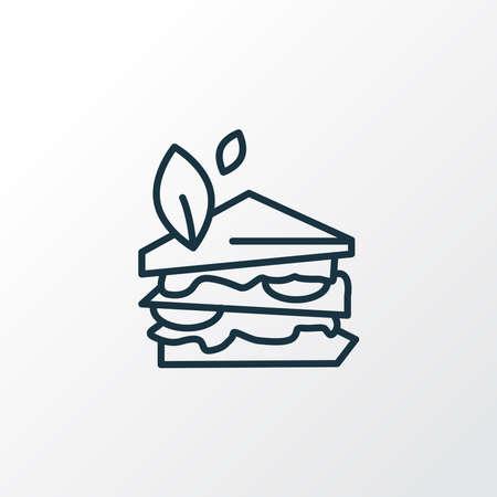 Vegan sandwich icon line symbol. Premium quality isolated hamburger element in trendy style. Vettoriali