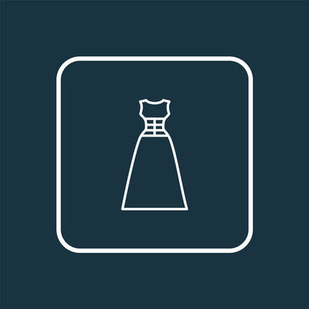 Evening wear icon line symbol. Premium quality isolated corsage dress element in trendy style. Illustration