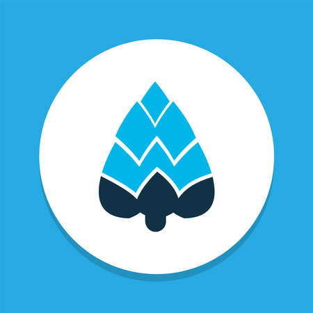 Plant icon colored symbol. Premium quality isolated artichoke element in trendy style. Illustration