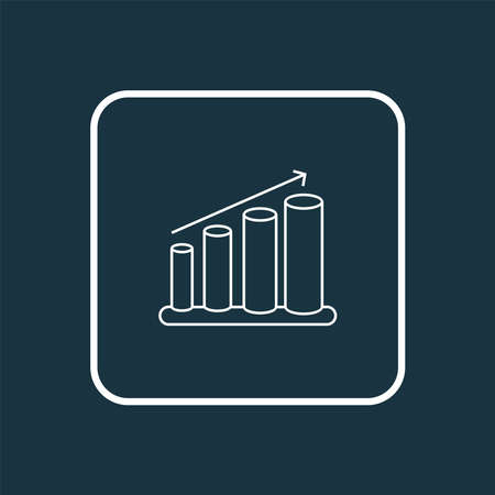 Bar charts icon line symbol. Premium quality isolated columns graph element in trendy style.