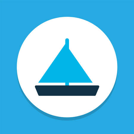 Yacht icon colored symbol. Premium quality isolated sailboat element in trendy style.