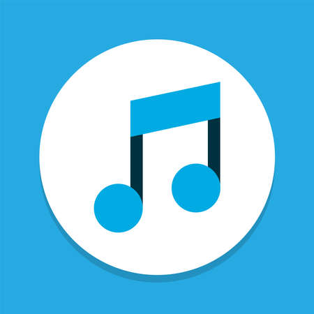 Music icon colored symbol. Premium quality isolated musical note element in trendy style.