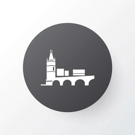 Charles bridge icon symbol. Premium quality isolated prague element in trendy style.