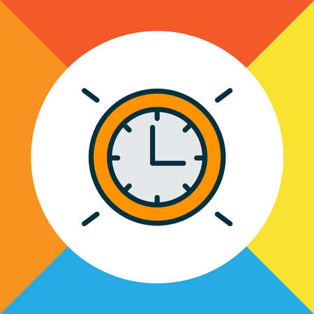 Wall clock icon colored line symbol. Premium quality isolated watch element in trendy style.
