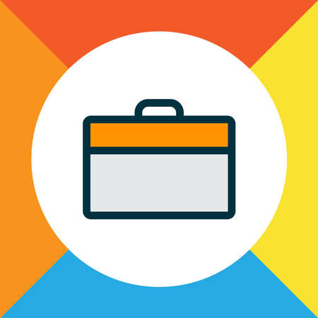 Briefcase icon colored line symbol. Premium quality isolated portfolio element in trendy style.