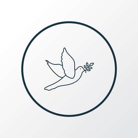 Dove icon line symbol. Premium quality isolated pigeon element in trendy style.