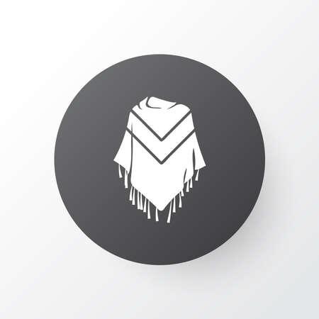 Poncho icon symbol. Premium quality isolated mexico costume element in trendy style. Иллюстрация