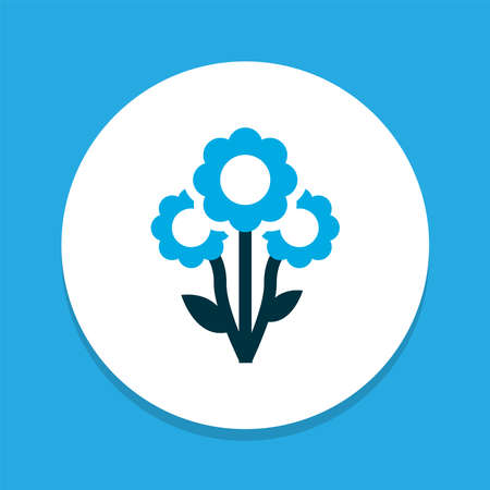 Flower icon colored symbol. Premium quality isolated blossom element in trendy style. 版權商用圖片 - 150991663
