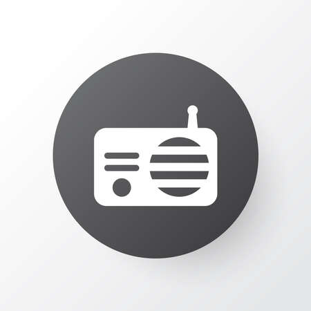 Radio icon symbol. Premium quality isolated fm element in trendy style. Ilustração