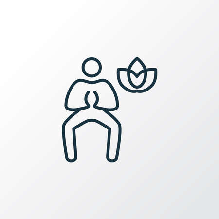 Yoga icon line symbol. Premium quality isolated meditation element in trendy style.