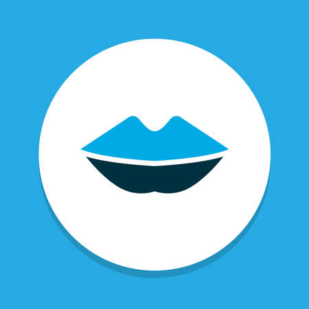 Mouth icon colored symbol. Premium quality isolated lips element in trendy style.
