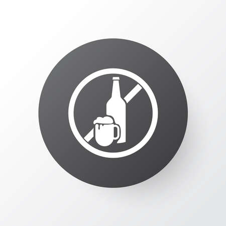No alcohol icon symbol. Premium quality isolated beer forbidden element in trendy style.