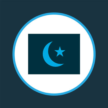 Islam flag icon colored symbol. Premium quality isolated religions emblem element in trendy style.