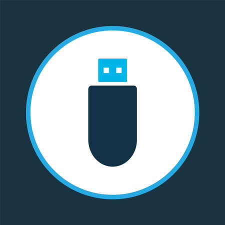 Flash drive icon colored symbol. Premium quality isolated usb drive element in trendy style.