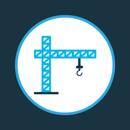 Crane icon colored symbol. Premium quality isolated lifting tower element in trendy style.