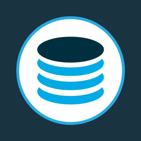 Database icon colored symbol. Premium quality isolated storage element in trendy style. Banque d'images
