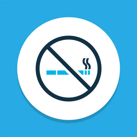 No smoking icon colored symbol. Premium quality isolated cigarette forbidden element in trendy style.