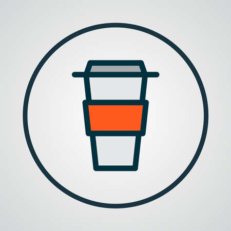Coffee icon colored line symbol. Premium quality isolated decaf element in trendy style.