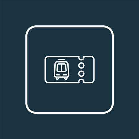 Transport ticket icon line symbol. Premium quality isolated entry element in trendy style. Stockfoto