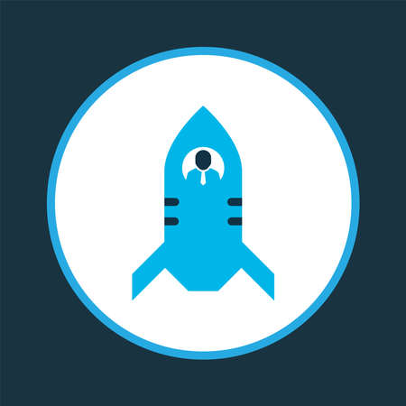 Rocket icon colored symbol. Premium quality isolated shuttle element in trendy style. Banque d'images - 152757580