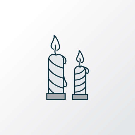 Candles icon colored line symbol. Premium quality isolated paraffin element in trendy style. Banque d'images - 152757583