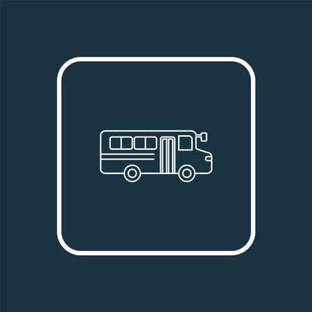 School bus icon line symbol. Premium quality isolated autobus element in trendy style. Banque d'images - 152757586