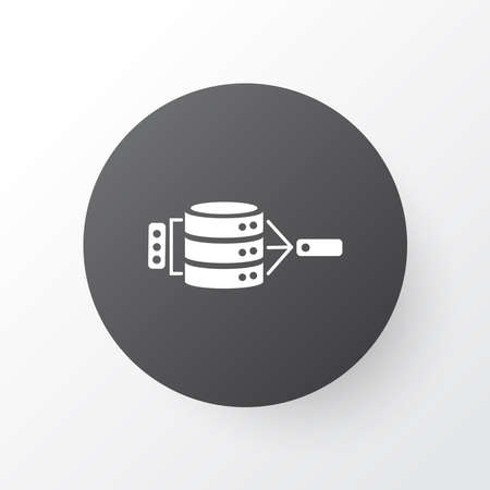 Data management icon symbol. Premium quality isolated server element in trendy style. Banque d'images - 152757487