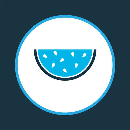 Tasty icon colored symbol. Premium quality isolated melon element in trendy style.