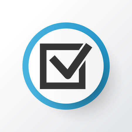 Task icon symbol. Premium quality isolated check element in trendy style.  イラスト・ベクター素材