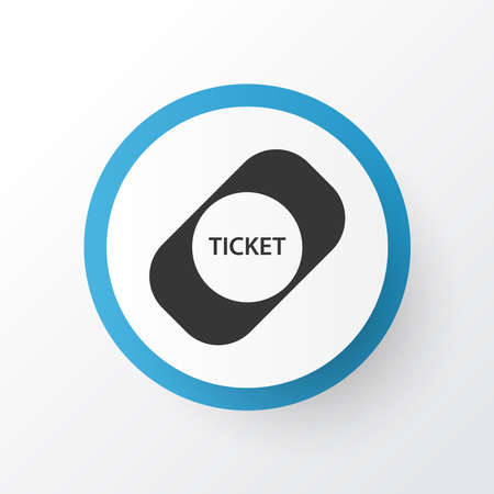 Ticket icon symbol. Premium quality isolated coupon element in trendy style.  イラスト・ベクター素材