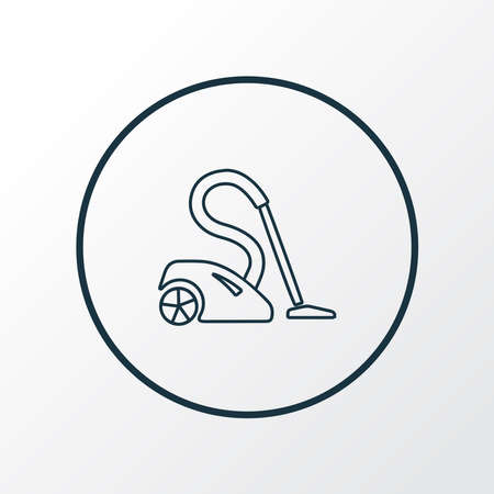 Vacuum cleaner icon line symbol. Premium quality isolated sweeper element in trendy style.  イラスト・ベクター素材