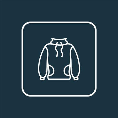 High-round collar icon line symbol. Premium quality isolated sweatshirt element in trendy style.  イラスト・ベクター素材