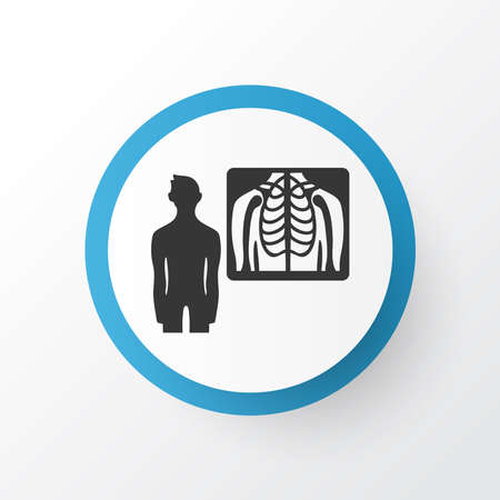 Radiology icon symbol. Premium quality isolated x-ray element in trendy style.