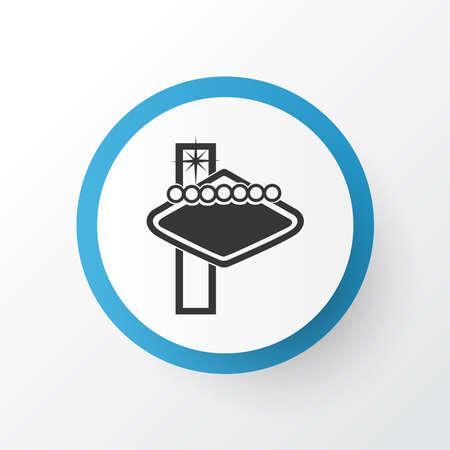 Las vegas casino icon symbol. Premium quality isolated entertainment element in trendy style.