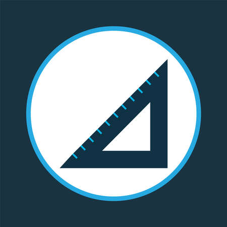 Straightedge icon colored symbol. Premium quality isolated triangle ruler element in trendy style.