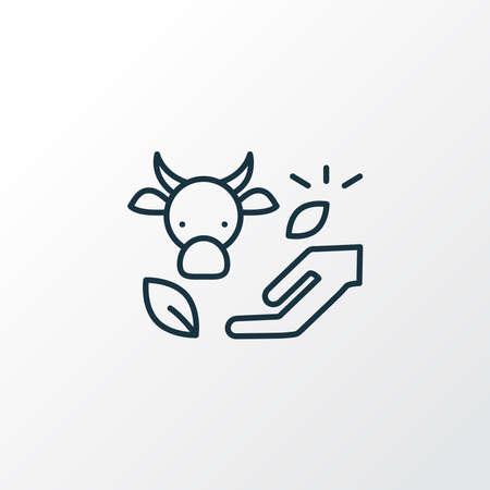 Eco farming icon line symbol. Premium quality isolated livestock element in trendy style.