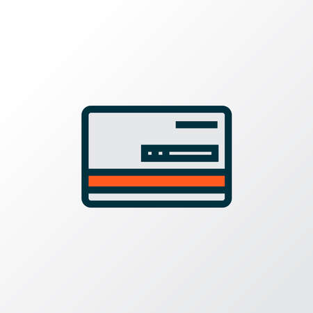 Bank card icon colored line symbol. Premium quality isolated payment element in trendy style.