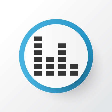 Audio mixer icon symbol. Premium quality isolated equalizer element in trendy style.