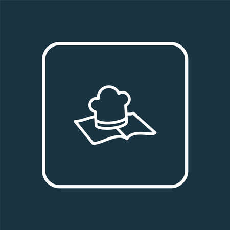 Recipe book icon line symbol. Premium quality isolated culinary element in trendy style.