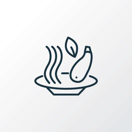 Zucchini pasta icon line symbol. Premium quality isolated spaghetti element in trendy style.