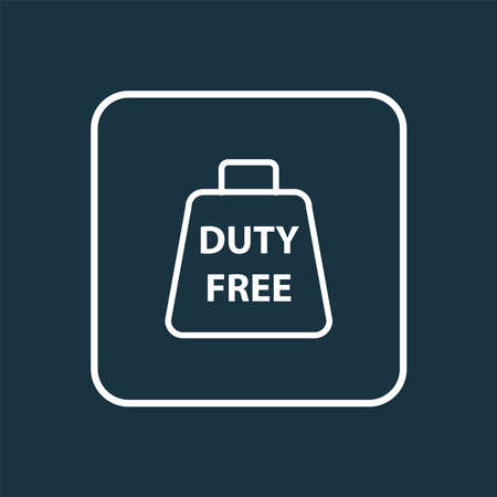 Duty free zone icon line symbol. Premium quality isolated tax free element in trendy style.