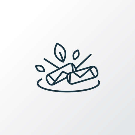 Spring rolls icon line symbol. Premium quality isolated dieting element in trendy style. Vetores