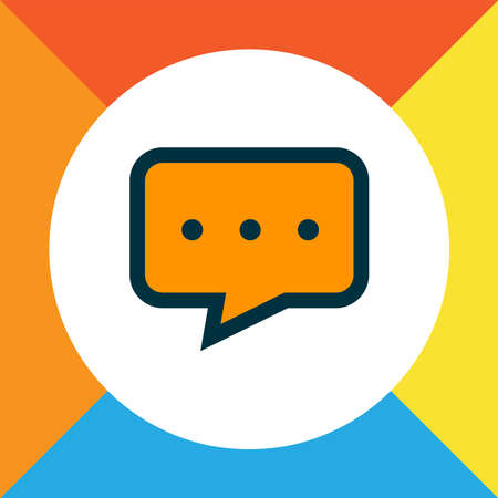Chat icon colored line symbol. Premium quality isolated conversation element in trendy style.