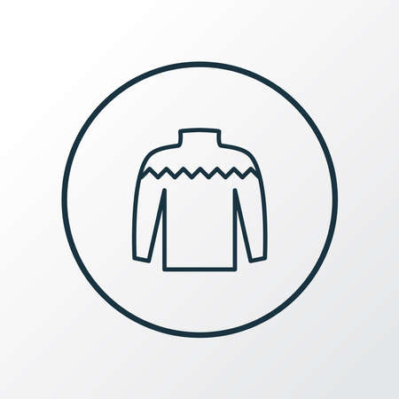 Knitwear icon line symbol. Premium quality isolated sweater element in trendy style.