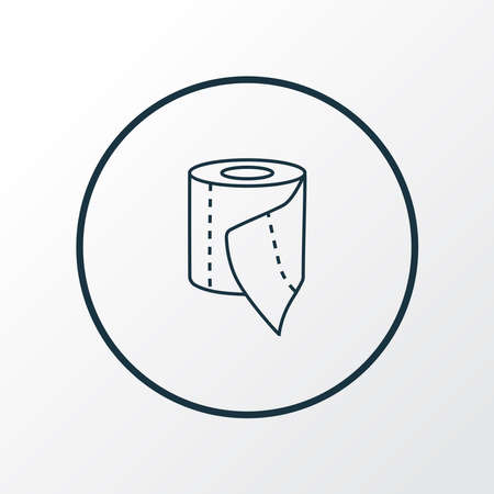 Toilet paper icon line symbol. Premium quality isolated tissue roll element in trendy style.