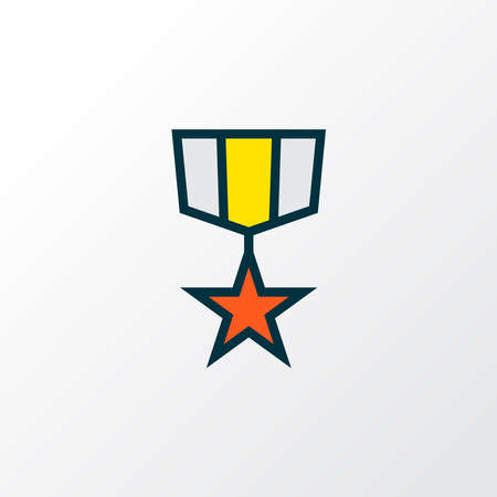 Medal icon colored line symbol. Premium quality isolated award element in trendy style.
