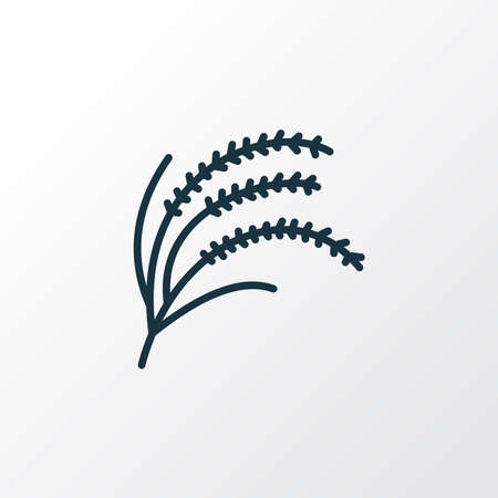 Rice plant icon line symbol. Premium quality isolated cereal element in trendy style. 向量圖像