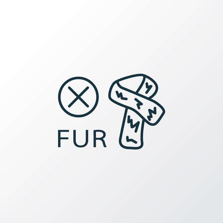 No fur icon line symbol. Premium quality isolated forbidden element in trendy style. 向量圖像