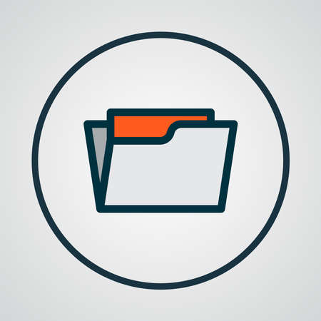 Open folder icon colored line symbol. Premium quality isolated directory element in trendy style.