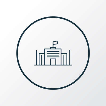 City governance icon line symbol. Premium quality isolated parliament element in trendy style.